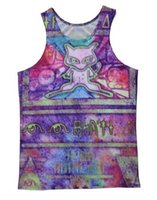 Men ancient mew - 2015 Hot Fashion Women Men Vest Couples Tank Tops Underwear Ancient Mew Pokemo n D Digital Print Crop Sleeveless Garment Stretchy V021