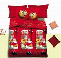 monroe bedding - 2015 New Christmas D Bedding Set Queen King Size Duvet Cover Flat Sheet Pillow Case Christmas Decoration Santa Marilyn Monroe