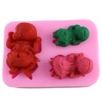 baby jello - Baby Shape Fondant Chocolate Candy Jello Mold D Silicone Cake Mold Cake Baking Tools Handmade Soap Mold CT414