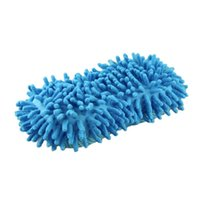 Wholesale Hot Brand New Blue Ultrafine Fiber Chenille Anthozoan Car Wash Gloves Car Washer Supplies