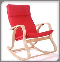 Wholesale Patio Furniture Rocking Chair Glider Wicker Recliner Design Relaxing Outdoor Bentwood Ikea Poang Reclining Upholstered Padded Wood Rocker