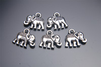 elephant charms - 200pieces mm Elephant Pendant Charms Plated Silver DIY Jewelry Finding Making Charms Necklace infinity Bracelets Earring Accessory