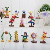 Wholesale 13pcs set cm Super Mario Bros Action Figures toy with box