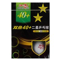Wholesale x Double Fish New Materials Star Star Star White Table Tennis Ping Pong Balls