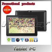 low price android tablet - Promotional products Lowest Price Q88 quot Android Tablet A23 Dual Core Tablet PC GB MB Capacitive WIFI Dual Camera inch Tablets PC