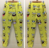 animated pants - Men boy Fashion Casual D joggers pant Animated characters printed cartoon long trousers for men Size S XL