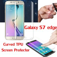 Wholesale Coverage TPU Full cover Film for Samsung S7 Edge S6 Edge Plus Note C5 C7 iPhone Plus Cover Curved Part Screen Protector Film MOQ