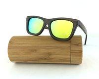 Wholesale Wood Bamboo Sunglasses men women with Bamboo Box case Handmade Wooden Glasses polarized Retro nature eyewear ESBM001_9