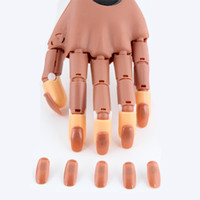 armed arm shows - Manicure tools Nail to the rubber Flexible rubber regulation practice fingerprint with arm show hand nails pills