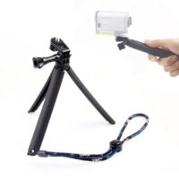 Movimiento de cámara del trípode Accesorios Grip para Sony HDR-Actioncam AS100v AZ1 AS30V AS15V AEE agarre rosa