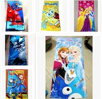 towel robe - 58 styles cm frozen Children s bath towel The Avengers towels princess Printed Cotton Towel Baby Cartoon Bath Towels Kids Beach Towels