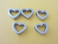 8mm slide charms - 100pieces mm glossy heart diy charms fit mm belt Bracelets Pet collars