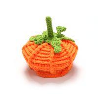 baby fitted hats - Baby Hat Winter Hot Sale Woolen Kids Leisure Cap Pumpkin Modelling Keep Warm Children Cap Fit Age T1376