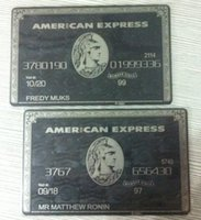Wholesale AMERICAN CENTURION EXPRESS BLACK CARD AMEX Customize it Metal CUSTOMIZE