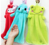 Wholesale 2015 New Cute Animal Microfiber Kids Children Cartoon Absorbent Hand Dry Towel Lovely Towel For Kitchen Bathroom Use