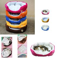 Wholesale Cute Comfortable Soft Cotton Footprints Design Style Pet Nest Dog Bed Cat Bed