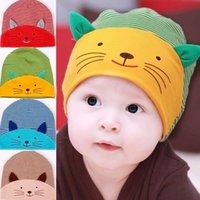 Wholesale 1pc Newborn Baby Cap Fashion Infant Cat Hats Kids Hats Children Cotton Homies Animal Caps YE122