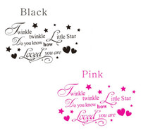 Wholesale Removable Twinkle Twinkle Little Star Quote Wall Sticker Kids Bedroom DIY Decal