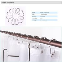 Wholesale 300 Nickel Finish Roller Shower Curtain Hooks Rings Bathroom Decoration Curtain Rings Shower Curtain Hook