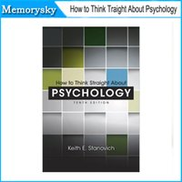 Wholesale 30PCS book How to think straight about psychology by Keith E Stanovich by DHL