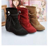 Wholesale 2014 New Korean High heels Boots Students Women s boots