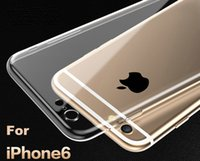 apple silicon case - For Apple iPhone6 Plus TPU Soft Case Protect Camera Cover Crystal Clear Transparent Silicon Ultra Thin Slim Shell for iPhone