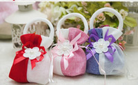 Wholesale Creative wedding favors boxes cm Favor Holders Gift Package Bags for wedding Christmas Flower gift box