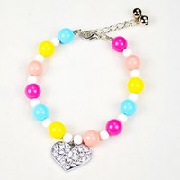 bead necklace mardi gras - Candy Color Beads Pet Dogs Necklace Jewelry Fashion Pets Grooming Accessories Dogs Products Supplies for Chihuahua Poodle Teddy