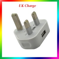 Wholesale Portable UK Plug Wall USB Charger Universal AC Power mA Adapter For iPhone Samsung HTC LG UK Charging Adapter