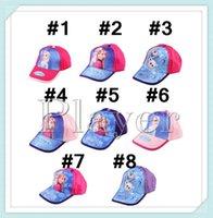 Wholesale 9 colors Frozen princess fashion cheap snapback hats high quality polo hats men s and women baseball cap