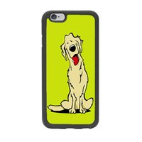 background dogs - Cute Animal Golden Retriever Dog Lemon Background Cover Case Slim Fit for iPhone inch Black