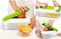 Wholesale 12 set Vegetable Fruit multi function Peeler Cutter Chopper Slicer Kitchen Cooking Tools Shredders Slicers For Salad via epacket