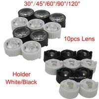 Wholesale New Freeshipping Led Lens amp Diameter mm Black Holder degree Lenses Reflector Collimator for w w w Light