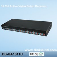 Wholesale 16 Channels Video Balun Receiver Black Color CH Audio Video Receiver Metal Materials Video Balun Transmitter DS UA1611C
