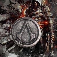 ancient props - Fashion Assassin s Creed Brooch alloy ancient Mark Badge brooches pins cosplay props movie jewelry kids toys