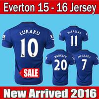 Wholesale New Everton Jersey LUKAKU Home Blue BAINES Everton Soccer Jerseys Away Black Football T Shirts MIRALLAS BARKLEY ETO O