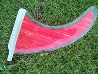 Cheap clear long board fins with pink bamboo (9 inch)by free shipping
