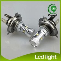 led light parts - H4 H7 Led Bulb W Fog Lights High Power LED Car Light Ultra Bright CREE H7 LED Car Foglamp Fog Light LM White Light Fog Lamp Auto Parts