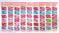 Wholesale Freeshipping New Kids Girls Baby Hello Kitty Snow White Mickey Minnie Frozen Girl s Bow Hair clips Hair Pins Hair Accessories