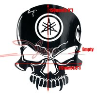 adhesive glue for cars - xterior Accessories Car Stickers New skull adhesive sticker tank decal fender fairing stickers for car universal motorcycle FZ1 FZ6R