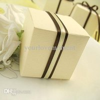 Wholesale Free DHL shipping cm cm cm Ivory White Wedding Favor Box Gift Candy Boxes Wedding Decoration