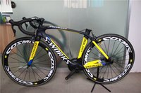 Wholesale 2015 black yellow glossy matte new painting carbon fiber UD T800 complete road bike bicycle cm