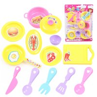 Wholesale Educatonal Preschool Toys Fashion Girls Cute Cooking Appliance Utensil and Food Set Hot Kids Candy Color and Plastic Safety Mini Cooking Set