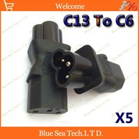 industrial material - High Quality IEC320 C13 to C6 industrial Plug adaptor C13 to C6 CE standard plug ABS brass material A V