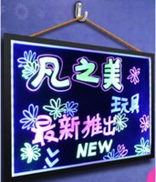 Wholesale 40 CM LED Handwriting Board Electronic Bulletin Board Luminous Advertising Board Fluorescent Black Billboard