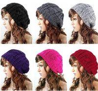 Wholesale 10pcs Lady Winter Warm Knitted Crochet Slouch Baggy Beret Beanie Hat Cap Z750