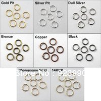 bronze craft - Jump Rings Open Connectors mm Gold Silver Bronze Copper Black etc For Jewelry Making Craft DIY