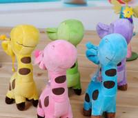 baby dear doll - Piece Plush Giraffe Soft Toy Animal Dear Doll Baby Kid Child Birthday Happy Gift Colors