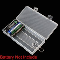 aa battery case - 20pcs Portable Hard Plastic Case Holder Storage Box for x AA Batteries to Keeps you batteries safe and dry LEF_311