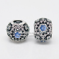 Wholesale S925 Sterling Silver Cinderella s Wish With CZ Openwork Snowflake Charm Beads Fit European Pandora Jewelry Charm Bracelets Necklaces DS041